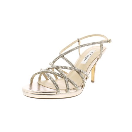 Nina Womens Vilma Metallic Strappy Dress Sandals Gold 7.5 Medium (B,M) Gold Snowboard Boots