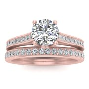 5/8ct Diamond Bridal set in 10k Rose Gold (10K Gold, G-H, I2-I3, 5/8ctw)