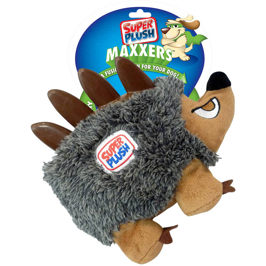 Super Plush Maxxers Hedgehog, Large, Black/Brown