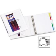 """Avery Framed View Heavy Duty Binders with One Touch EZD Rings - 1"""" Binder Capacity - Letter - 8 1/2"""" x 11"""" Sheet Size - 275 Sheet Capacity - 3 x D-Ring Fastener(s) - 2 Internal Pocket(s) - Vinyl - Whi"""