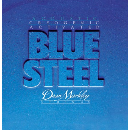 Dean Markley Blue Steel Cryogenic Activated Acoustic Strings, 13-56, 2038, Medium