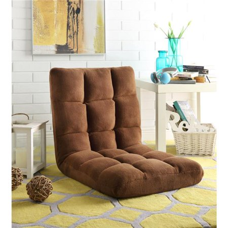 Microplush Modern Armless Quilted Recliner Chair with foam filling and steel tube frame - Brown - image 1 of 1