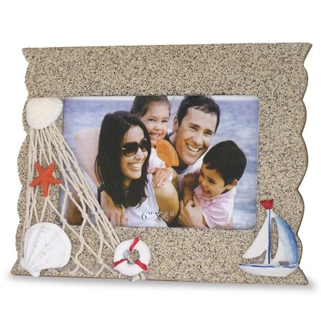 Beach Picture Frame with Sailboat Starfish & (Picture Framing Boynton Beach)