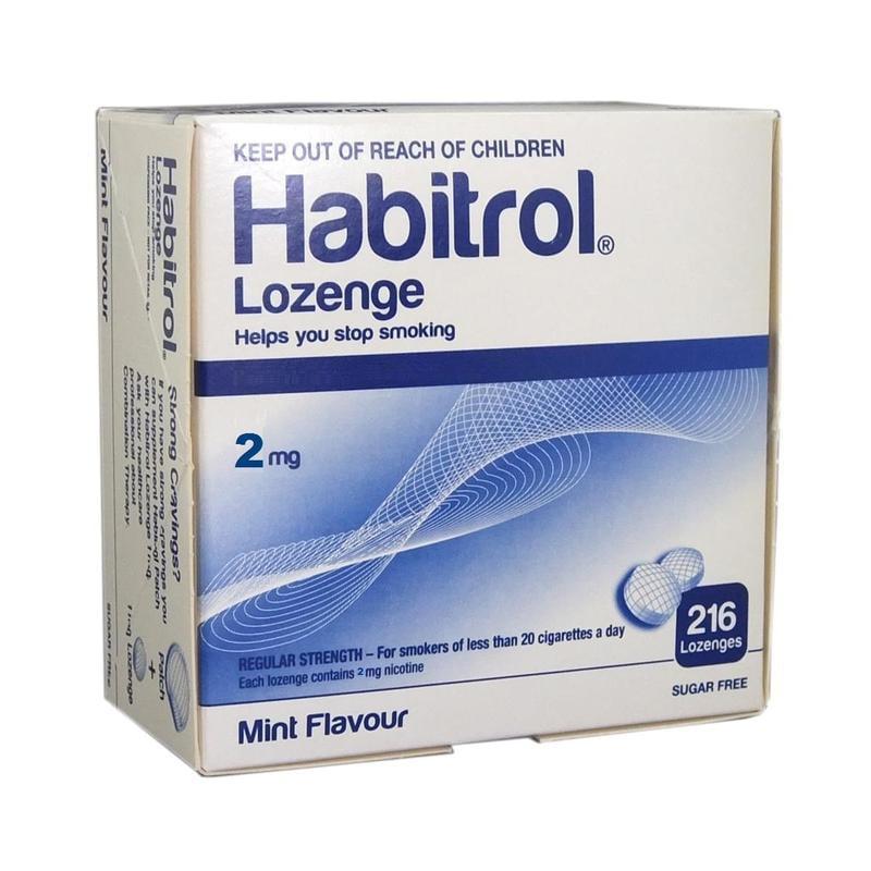 Habitrol Nicotine Lozenge 2mg Mint (1296 ct, 6 boxes) Quit Smoking