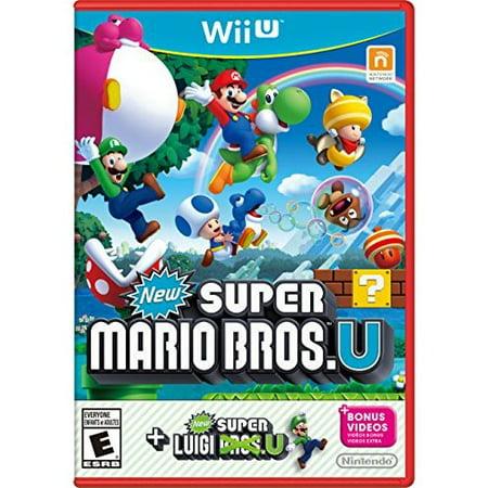 Refurbished New Super Mario Bros U New Super Luigi U Wii U With