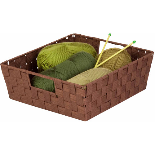 Honey Can Do Woven Trays with Built In Handles, 2-Pack