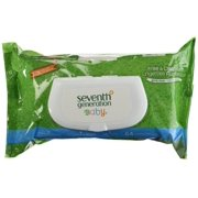 Seventh Generation Free & Clear Baby Wipes 64 ea (Pack of 2)