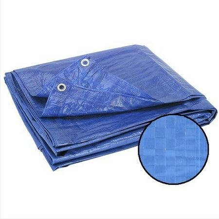 Wideskall® 6' x 4' Sq Feet All Weather Light Duty Water Resistant Reinforced Cover Blue Tarp w/ Grommets (Pack of
