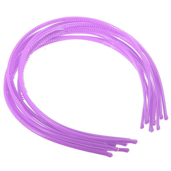 10pcs 4mm Plastic Candy Colors Teeth Headband Skinny Thin Hair Band Hairpin