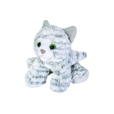 Gray Tabby Cats - Grey Tabby Cat Hug 'ems 7 inch - Stuffed Animal by Wild Republic (18087)