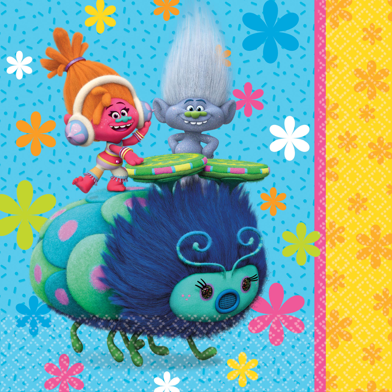 Trolls Party Paper Lunch Napkins, 16ct