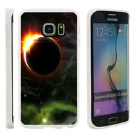 Samsung Galaxy S6 Edge G925, Flexible Case [FLEX FORCE] Slim Durable TPU Sleek Bumper with Unique Designs - Eclipse of Sun