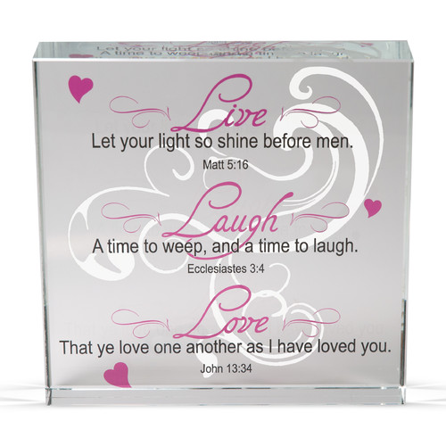 Angelstar Live Laugh Clearly Inspired Textual Art Plaque (Set of 2)
