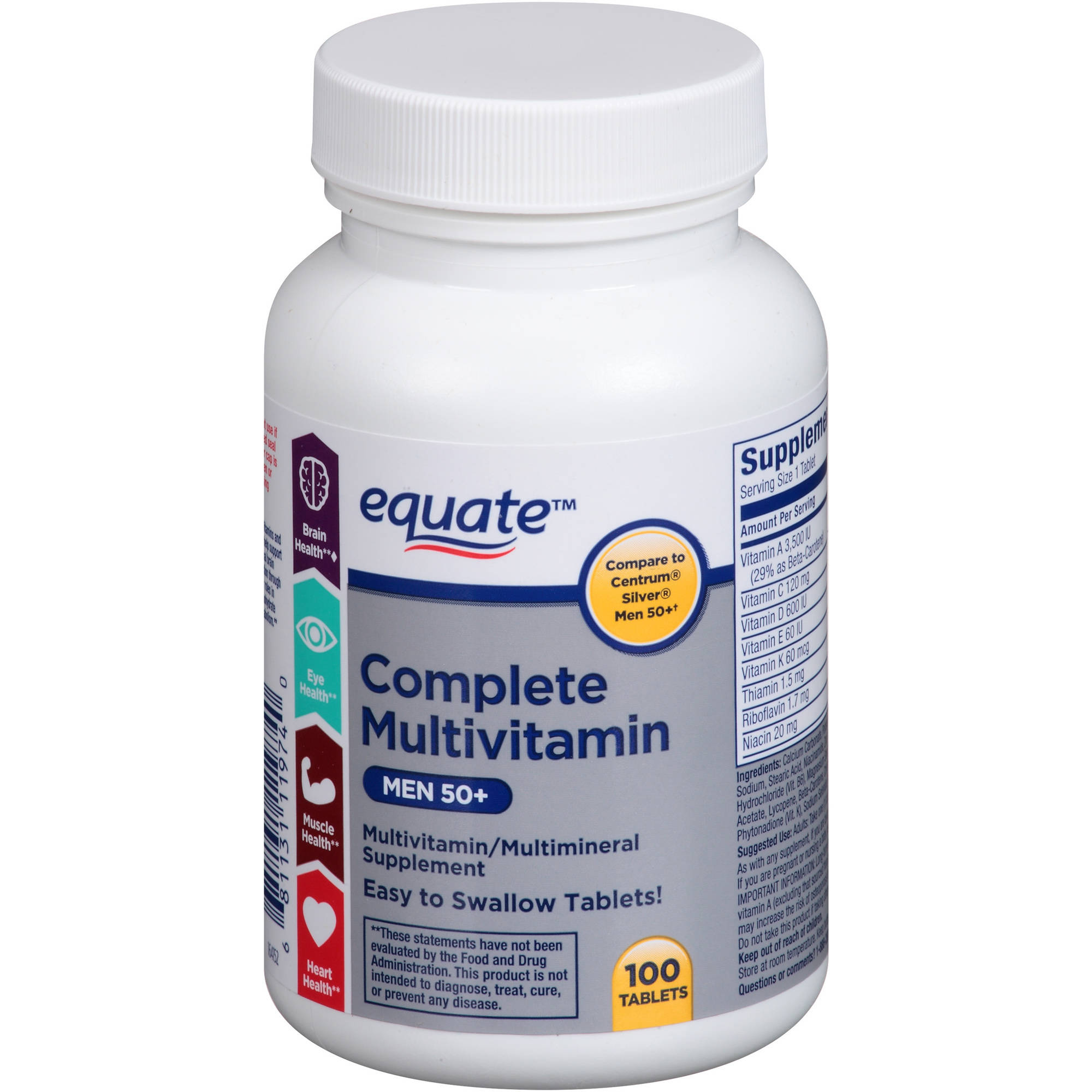 equate complete multivitamin women 50 multivitamin