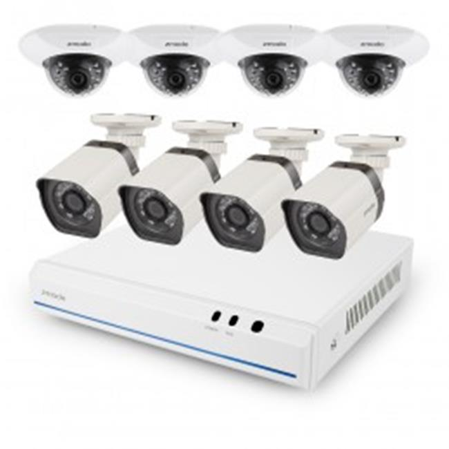 Zmodo ZM-SS76D9D8-SC-1TB Network Video Recorder 8 Channel 720p NVR System with 8HD IP Cameras & 1TB HDD