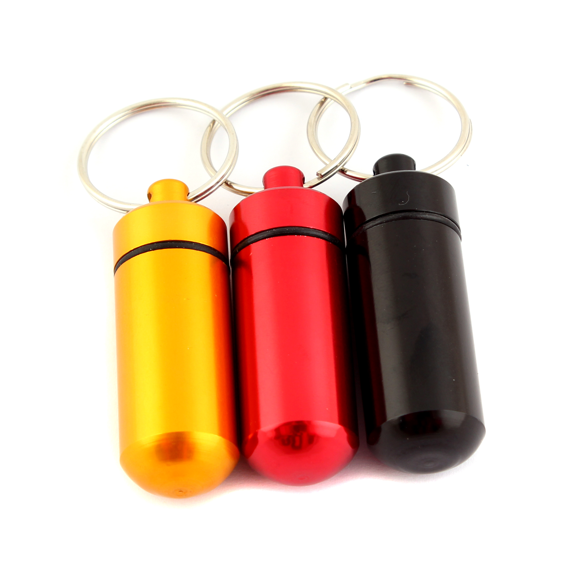 Outdoor tool Waterproof Aluminum Pill Box Case Drug Holder Keychain Container ZY