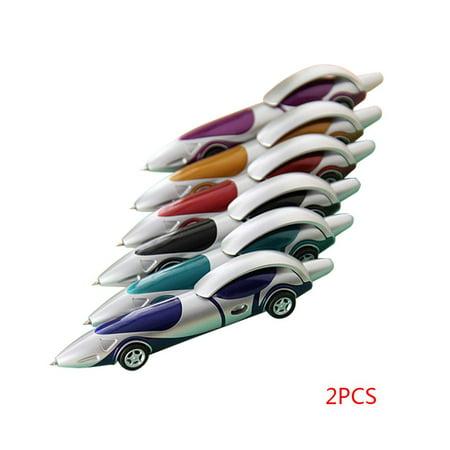 JOYFEEL 2Pcs Funny Novelty Cartoon Car Styling Shape Ballpoint Student Pen Kids