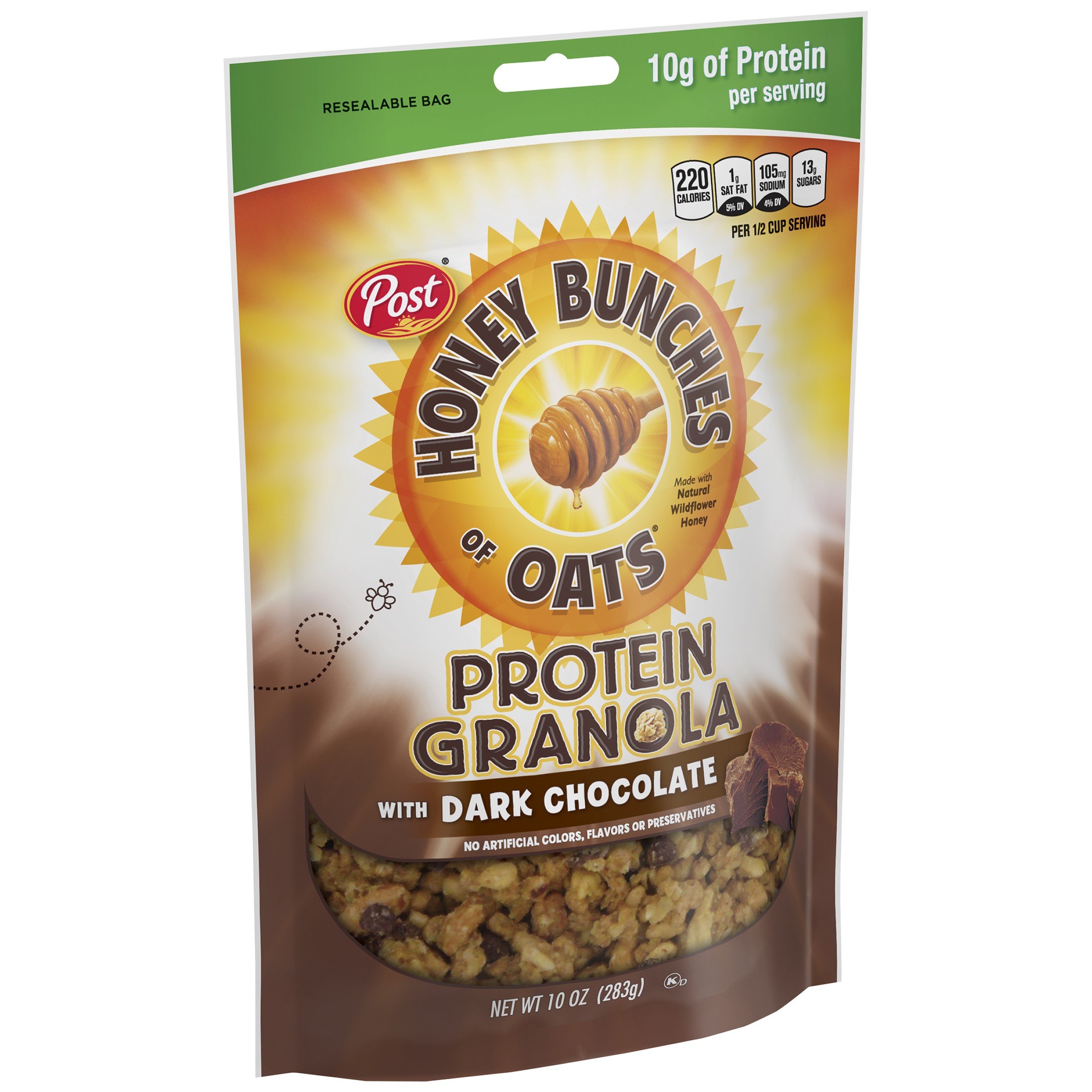 Post Honey Bunches of Oats Protein Granola with Dark Chocolate, 10 Ounce