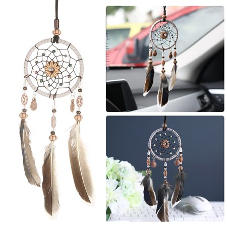 Rdeghly Hanging dreamcatcher, Car Pendant dreamcatcher,1 PCS Creative Handmade Dream Catcher with Feather Shells Car Pendant Hanging Decoration - image 5 of 7