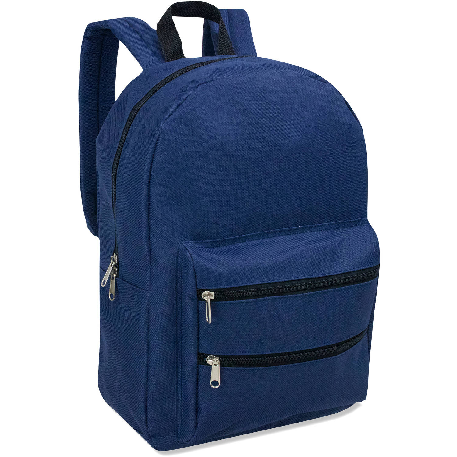 17 Inch Full Size Dome Backpack With Double Zippered Pocket