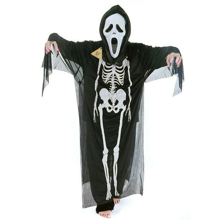 Adult Black Skeleton Skull Evil Devil Ghost robe Scream Mask - Costume - Ghostface Scream