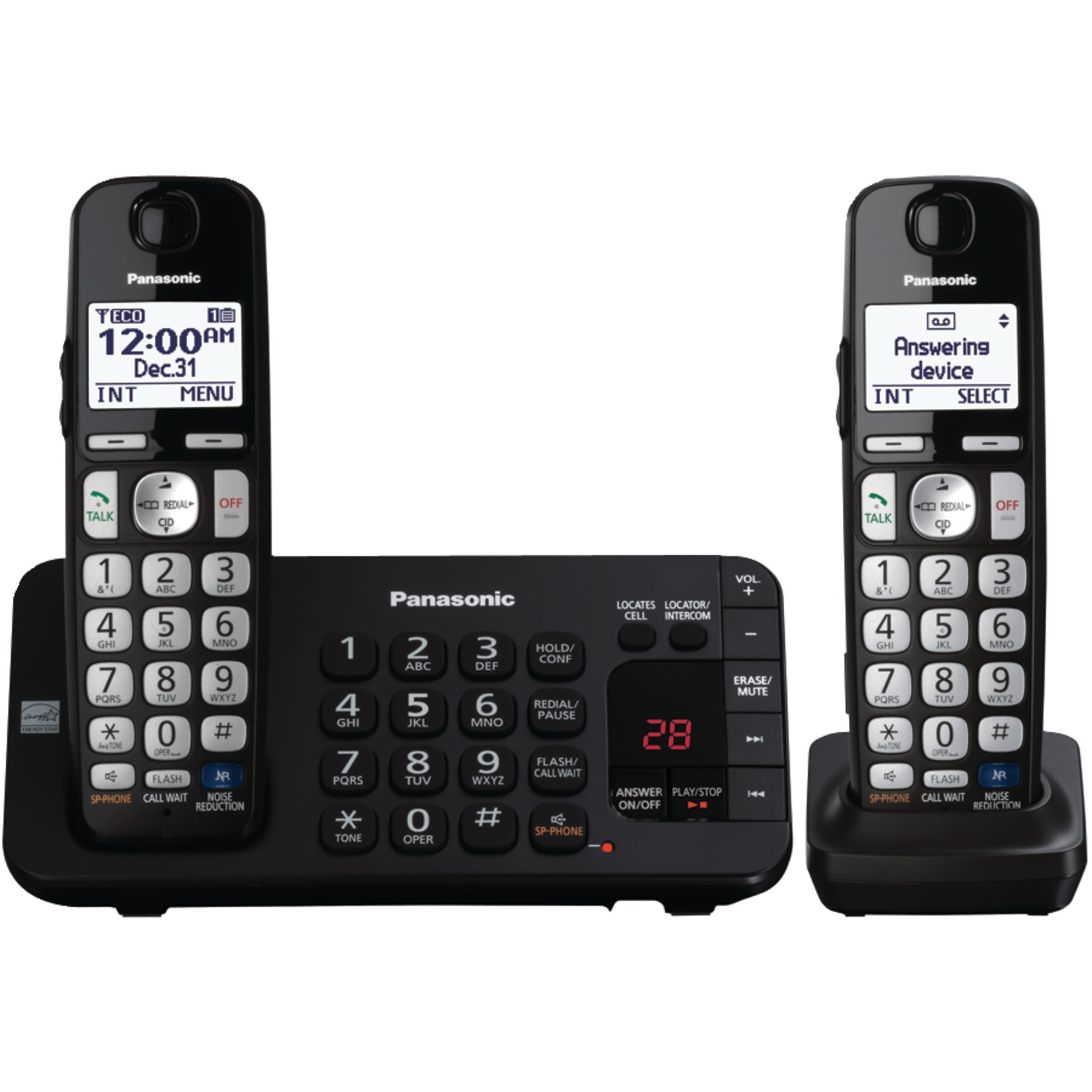 Panasonic Kx-tge243b Dect 6.0 Plus Expandable Digital Cordless Answering System (3-handset System) by Panasonic