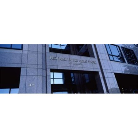 Panoramic Images Ppi116777l Facade Of A Bank Building  Federal Home Loan Bank  Atlanta  Fulton County  Georgia  Usa Poster Print By Panoramic Images   36 X 12