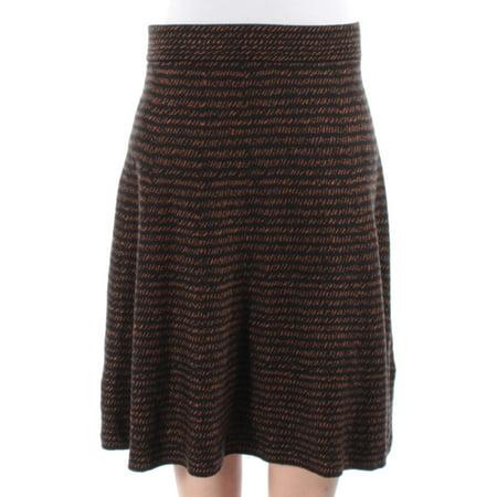 ALFANI Womens Brown Striped Knee Length A-Line Skirt  Size: S