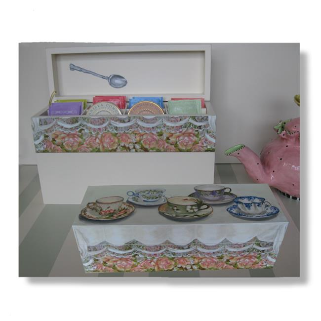 Lexington Studios 14-Horizontal Box:14014 English Tea Cups Horizontal Box by Lexington Studios