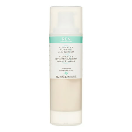 Radiance Clarifying Cleanser - REN ClearCalm 3 Clarifying Clay Facial Cleanser, 5.1oz