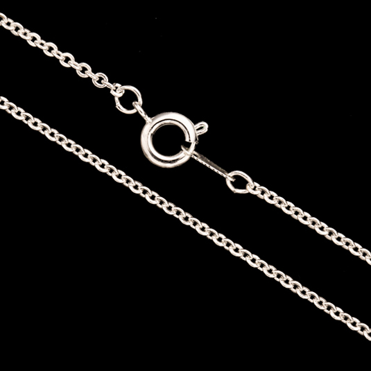 Cable Chain Necklace With Springring Clasp 18Inch Silver Plated Brass 2mm Chain Width 1pcs/pack (4-Chain Value Bundle), SAVE $3