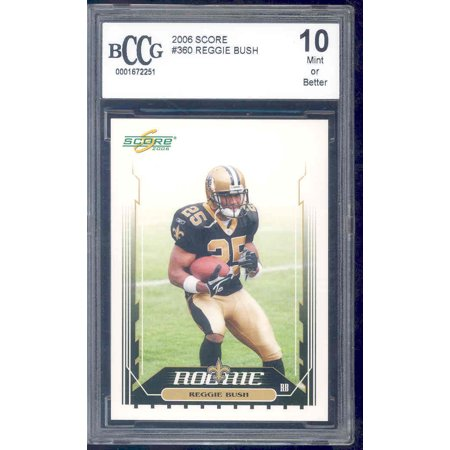 Reggie Bush Draft (2006 score #360 REGGIE BUSH rc rookie card BGS BCCG)