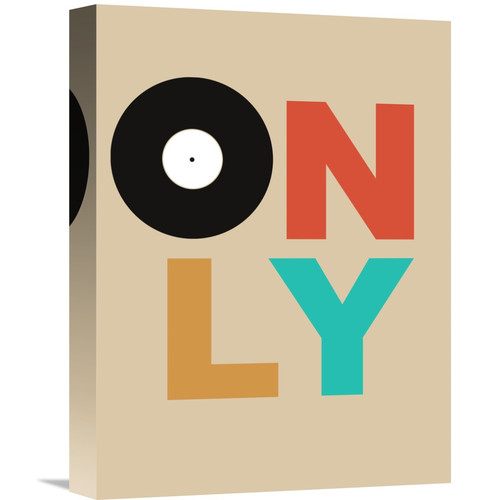 Naxart 'Only Vinyl Poster 1' Textual Art on Wrapped Canvas
