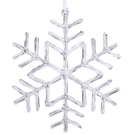 Vickerman Clear Acrylic Snowflake Christmas Ornament