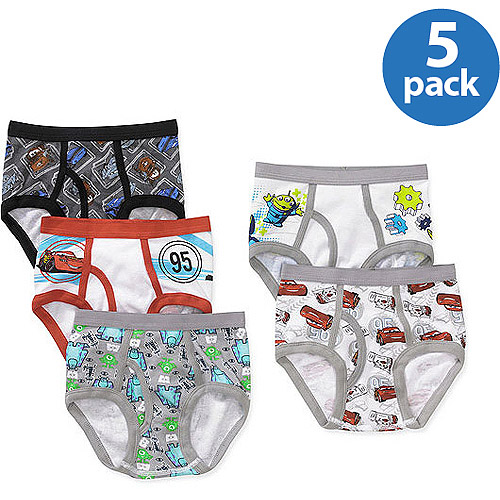 Pixar Boys' 5-Piece Briefs