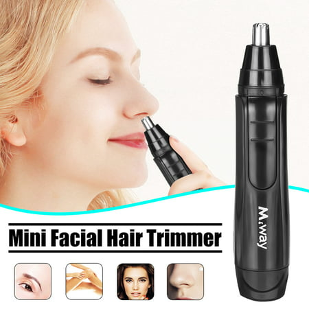 2019 New M.way Wet Dry Electric Portable Personal Ear Nose Eyebrow Mustache Face Hair Removal Trimmer Shaver Clipper Cleaner Remover Tool for Men Women With Stainless Steel