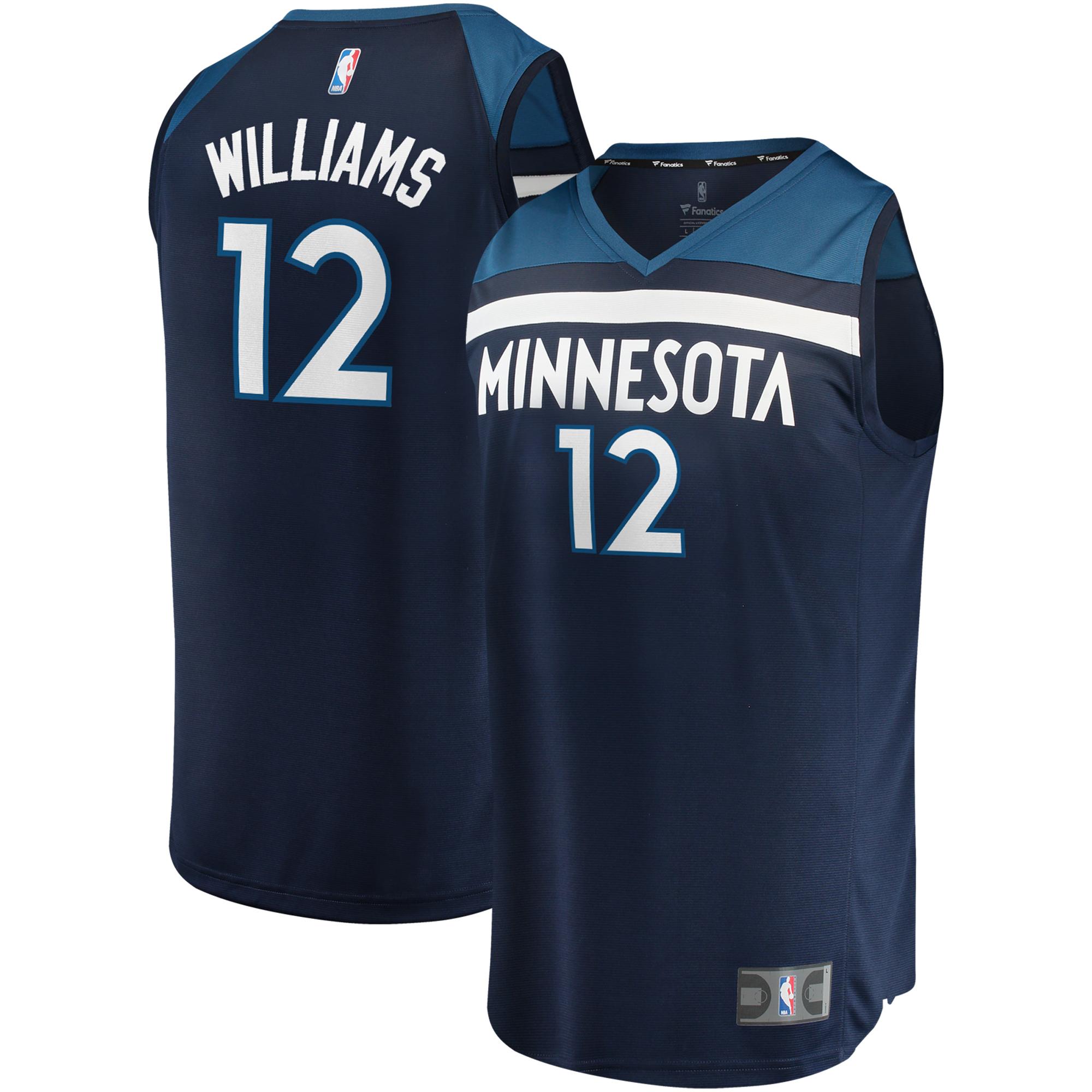 C.J. Williams Minnesota Timberwolves Fanatics Branded Fast Break Replica Jersey - Icon Edition - Blue