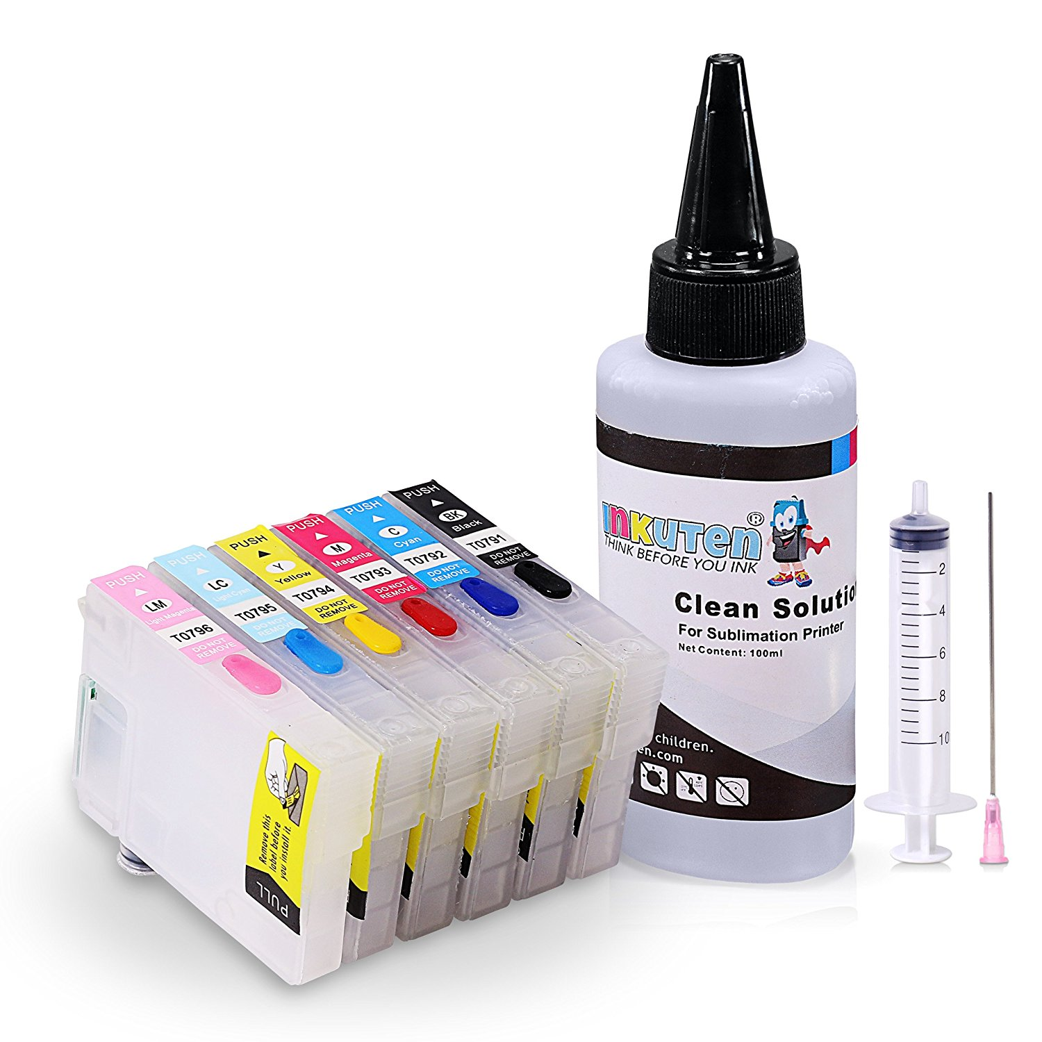 Sublimation Cleaning kit for EPSON Artisan 1430 Printer T079 #79 With 100ml Sublimation Cleaning Solution
