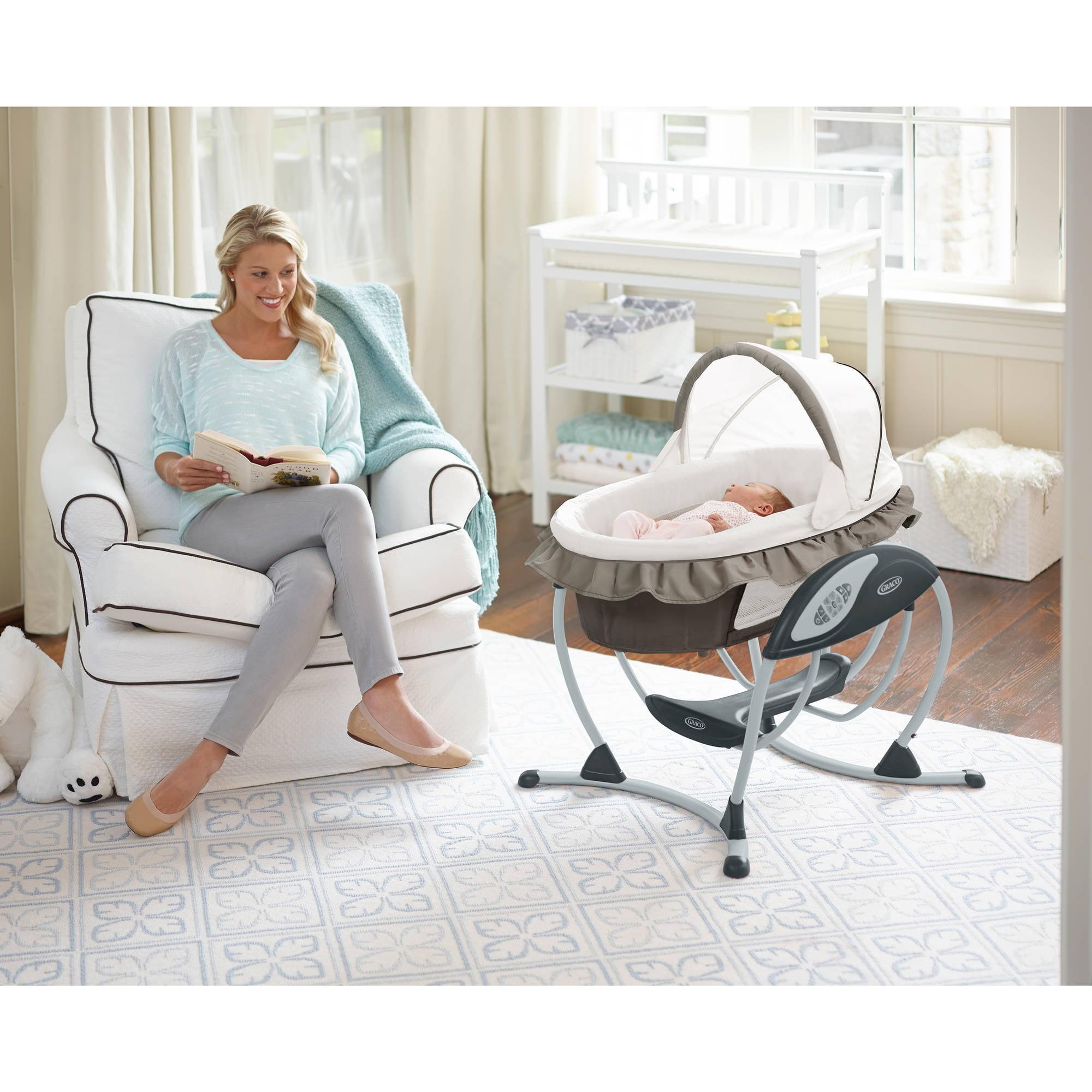 Graco Soothing System Glider Baby Swing Abbington Walmart