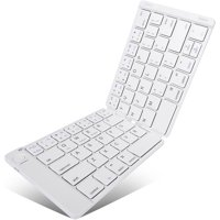 Slim Compact Fold-up Wireless Keyboard Keypad Portable White O8J for Samsung Galaxy S8 active S7 Active Tab 8.9 TabPRO 12.2 10.1 SM-T520 4 NOOK 7.0 (SM-T230) 10.1 (SM-T530) A 9.7 10.1 (2016)