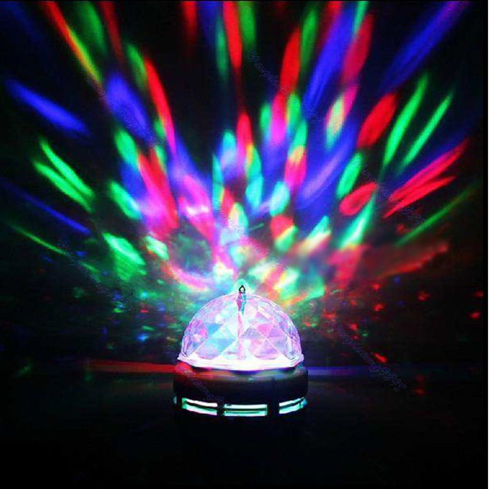 led rotating light lighting full color disco party crystal ball