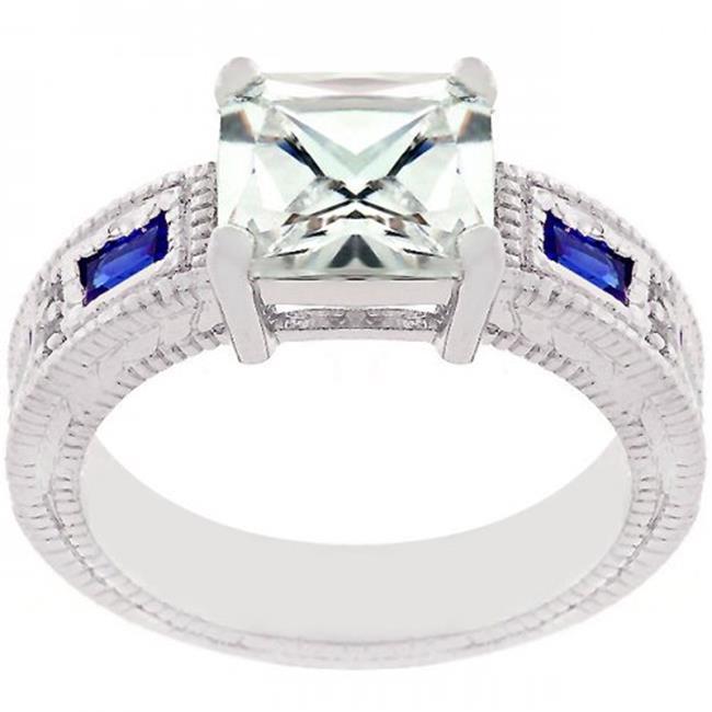 Icon Bijoux R07629R-C30-05 Prima Donna Sapphire Blue Cubic Zirconia Ring (Size: 05)