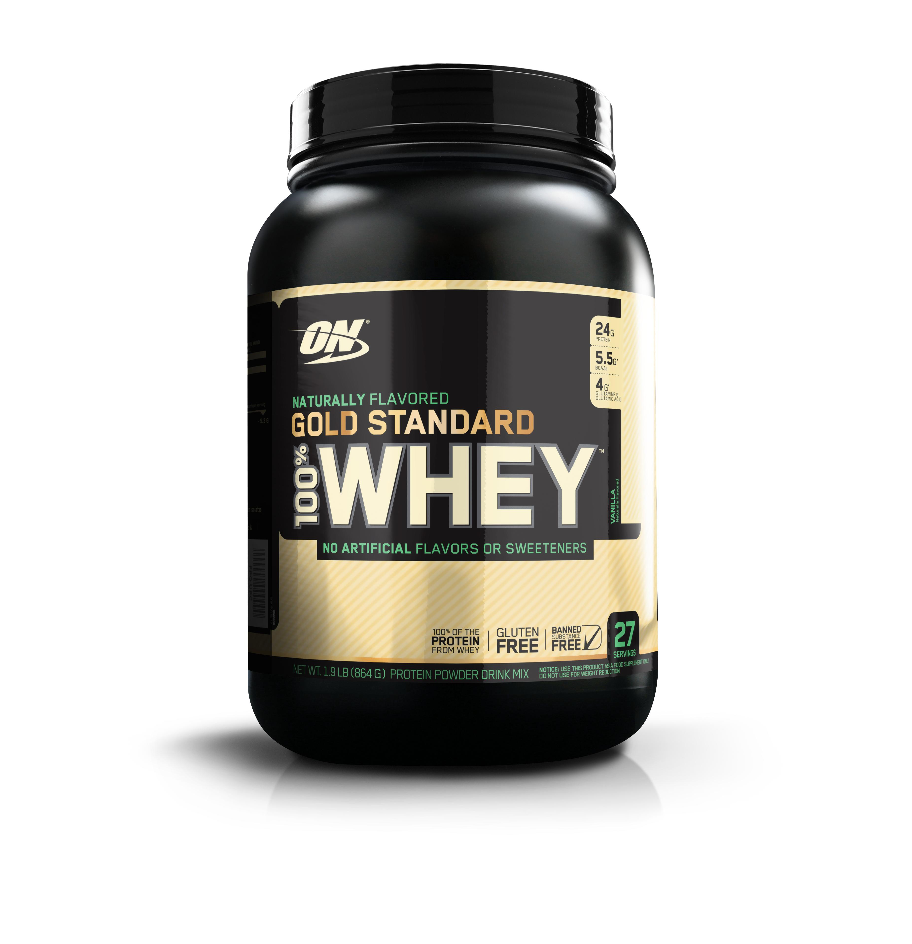 Optimum Nutrition Gold Standard 100% Whey Protein Powder, 24g Protein, Variety of Sizes & Flavors