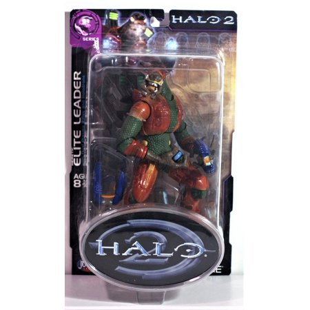 - HALO 2 JOYRIDE SERIES 8 ACTION FIGURE WITH PLASMA RIFLE HERETIC RED ELITE LEADER
