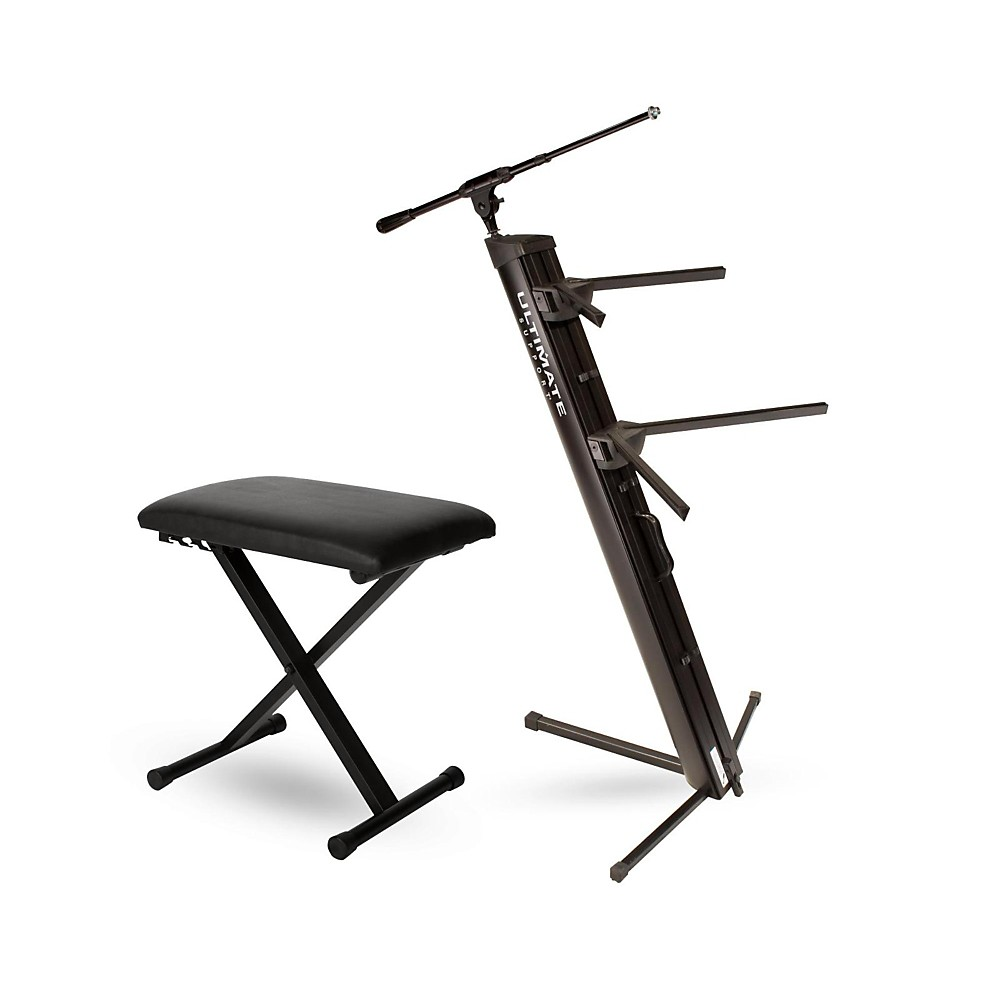 Ultimate Support AX-48 Pro Plus Keyboard Stand w/ Padded Bench