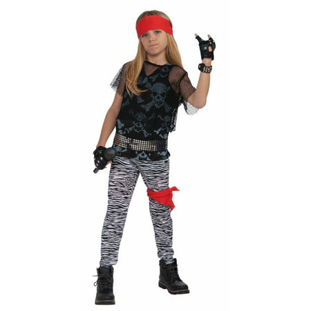 Halloween Child 80's Rock Star Child (80's Rock Chick Halloween Costume)