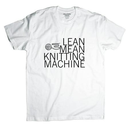 Lean Mean Knitting Machine - Sewing Knitting Love Men's T-Shirt