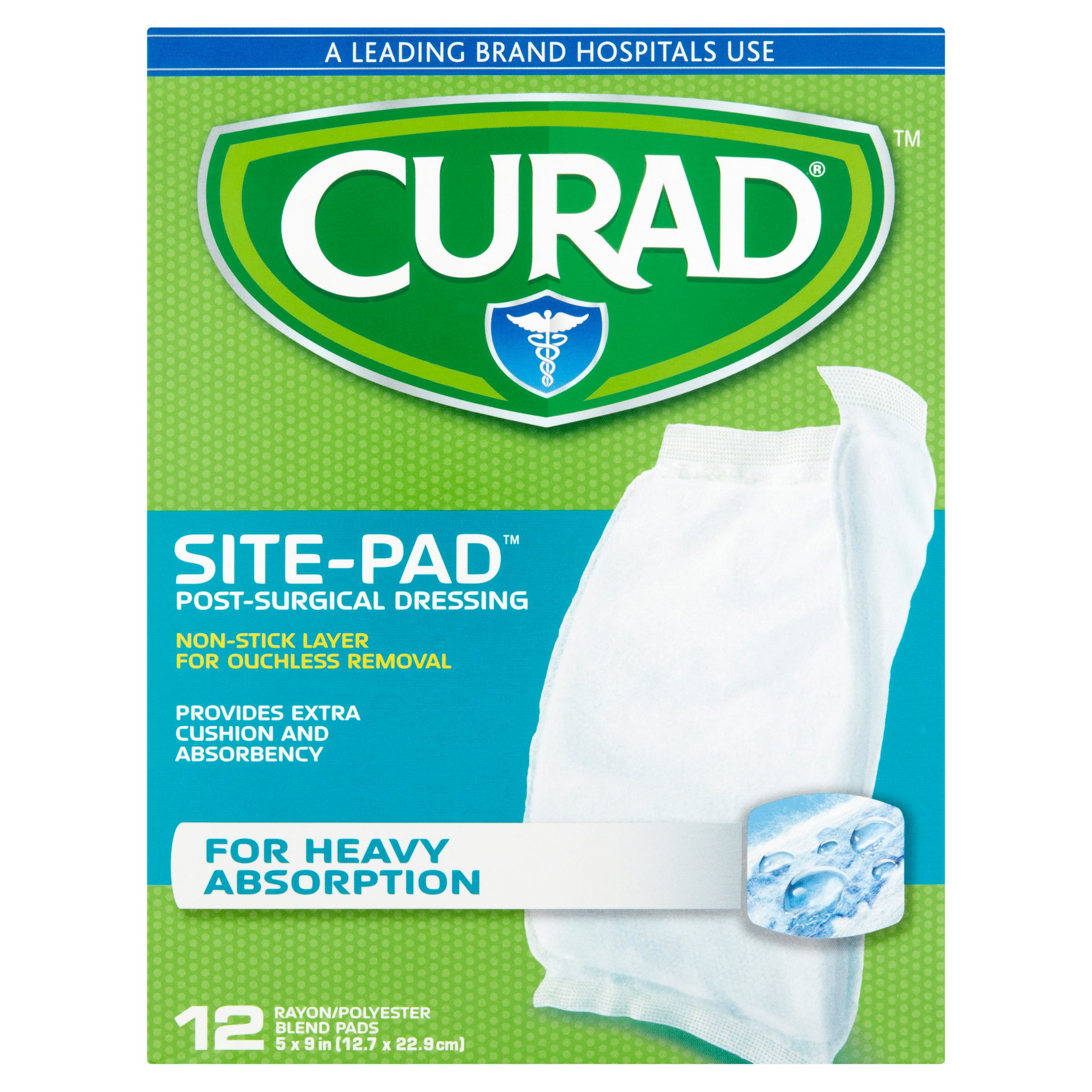 Curad Site-Pad Post-Surgical Dressings, 12 count