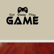 Eat Sleep Play Game Boy Lettering Decal Vinyl Decor Room Sports Sticker