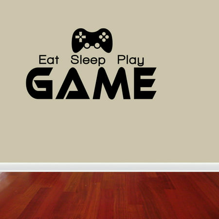 - Eat Sleep Play Game Boy Lettering Decal Vinyl Decor Room Sports Sticker J633